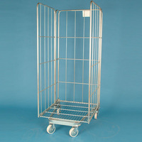 Metal wire laundry storage handling roll folding shopping cart
