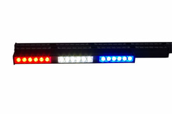 LED Visor Blue and Red Warning Strobe Flashing Lights emergency light