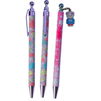 2014 New Design Cheap Price Cartoon Pen With Metal Clip