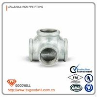 Plumbing fitting cast malleable iron pipe fitting Galvanized side outlet tee