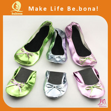 2014 OEM colorful roll up dyeable wedding shoes