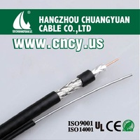 electric wire and cable rg6 messenger coaxial cable,made from coaxial cables manufacturer