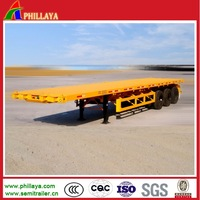 20-40ft / 2 or 3 axles widely used flatbed container truck and trailer for sale (dimension optional)