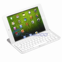 Ultrathin Aluminum Wireless Bluetooth Keyboard Stand Case Dock for iPad mini