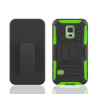 Cell phone case samsung s5 mini,Anti-shock Heavy Duty Holster Silicone Cover Case For Samsung Galaxy S5 mini