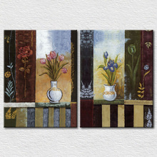 2 panels designs still life painting coloring