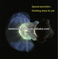 2014 fashion luminous pet clothes for dogs pet coats with RGB changeable colors remote controller