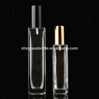 screw neck square rectangular 100ml 50ml perfume glass bottle with sprayer for men wholesale