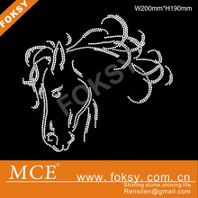 beautiful horse rhinestone transfers wholesale in china