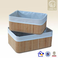 Antique decorative modern storage basket bamboo container house