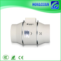 6 inch Significant static pressure capability battery power duct fan for Bathroom