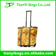Trolley shopping bag with chair wheeled market trolley bag