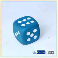 2014 Custom New Promotional Toy Products Hot Selling Blue & White PU Foam Dice Stress Balls