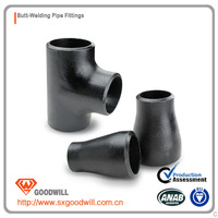 black carbon steel pipe fittings astm b16.9 norms std thick