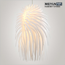 best sale feather silver pendant lamp pendant lighting for restaurants
