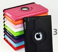 Factory price Leather Case 360 rotation Stand Case for iPad 2 3 4 air