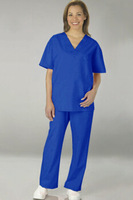 unisex short sleeve scrub suit designs / scrub sets