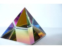 newest colorful print crystal pyramid MH-JT0106