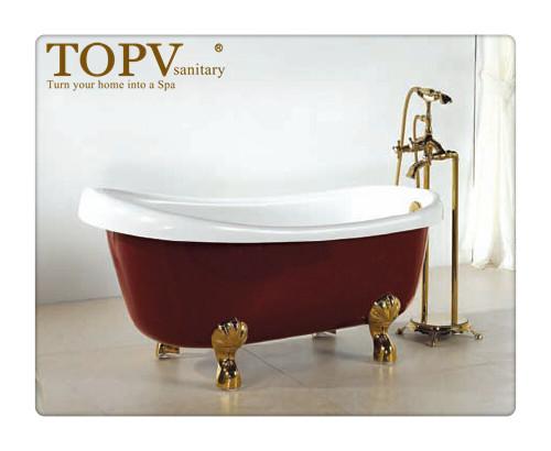 Clawfoot Freestanding Red Bathtub Mt 2807 Buy Bathtub With Foot Freestandin