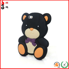 New Soft 3D Cute Teddy Bear Silicone Mobile Phone Cover Skin Case Back For New Apple