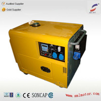 6KVA Silent Diesel Generator 220 volt 50hz with Europe Electric Plug