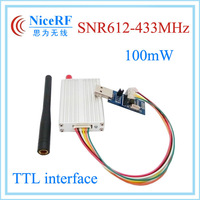 100mW Si4432 433MHz TTL interface SNR612 Industrial network node rf wireless transceiver module