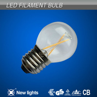 E27 LED filament bulb G45 2W filament LED golf ball light bulb 360 degree
