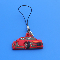 silicone car key chain wholesale, custom mobile phone key chain