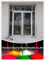 Aluminium door white powder coating paint