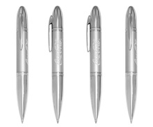 Cheap price silver color metal twist rotomac ball pens for promotion