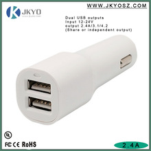 JK-C028 fast charge 2 ports usb car charger 5v 2.1a for smartphones