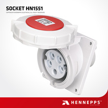 Hennepps ip67 5 pin impermeable socket industrial monofásico 32 amperios
