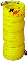 Yellow Dia 8mm Spring Spiral Recoil Nylon air brake air compressor hose for Pneumatic system