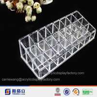 slope shaped multiple grid clear acrylic cosmetic display lipstick stand holder