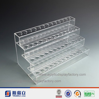 4 tier 4 mm thick high transparent slope shaped acrylic lipstick holder