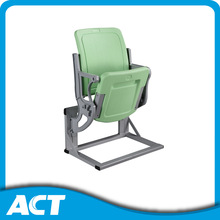 Plastic padded fixed gym seats for outdoor