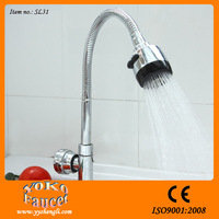 360 degree rotatable flexible chrome plated faucet display