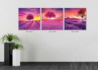 New Material PET 1.5mm WKH wood decoration frame picture,art painting,impressionist canvas art with 3d effect