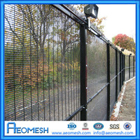 Welded Wire Mesh PVC Coated Garden Fencing Panel / PVC Outdoor Dog Fence A