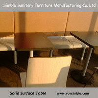 Acrylic dining table and chairs / fast food table and chairs