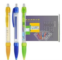 Novelty Plastic Retractable Calendar Pull Out Pen