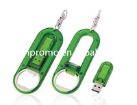 Cheap Plastic Gift bottle Opener USB Flash Drive Keychain