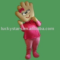 Hand girl costumes, cartoon costumes, mascot costume, funny costume