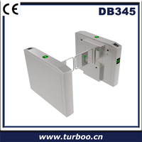 Shenzhen secure passage well used electronic control lock turnstile door 304 stainless steel swing barrier gate