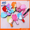 Cute baby girls plastic barrettes with metal clip wholesale