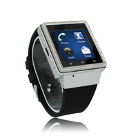 2014 Cheapest MTK6577 dual core 3G android hand watch mobile phone