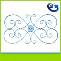 Wrought iron gate fence scroll panel