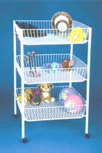 Basket Dump Metal Wire 3 Tier Doll Stand