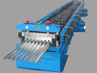 Corrugated metal deck roll forming machine