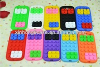Case for kids,Cute Silicon Toy Bricks mobile phone Case for Samsung Galaxy S3